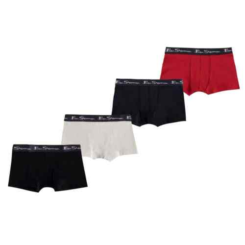 Ben Sherman Kids Trunks Boxers Underwear Pack of 4