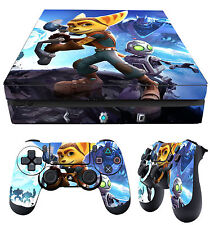 PS4 Slim Skin Ratchet and Clank Lombax Mechanic Stickers + 2 X Pad skins New
