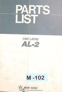 Details about Mori Seiki AL-2, CNC Lathe, Parts List Manual
