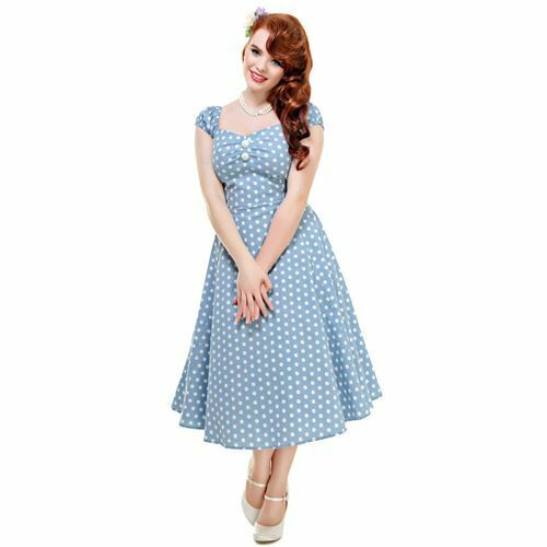 Collectif Kleid DOLORES VINTAGE POLKA DOT DOLL DRESS