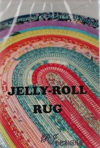 PATTERN-Jelly-Roll-Rug-fun-PATTERN-for-2-5-034-strips-RJ-Designs