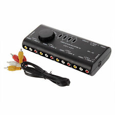 Neu 4 in 1 Out AV RCA Switch Box AV Audio Video Signal Switcher 4 Way Splitter#C