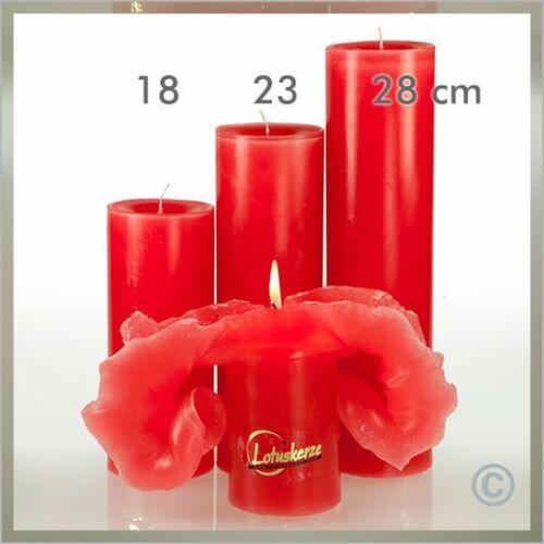 Lotuskerze Einfarbig 28 cm rot VPE: 3 Stück