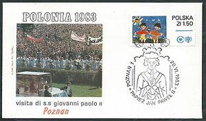 1983 Vaticano Viaggi Del Papa Polonia Poznan - Rm2