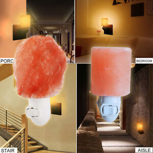 Pop himalayan salt night light natural crystal lamp air purifier home wall deco ebay for Air deco