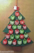 Large Felt Green Bauble Star Fabric Christmas Tree Advent Calendar ...