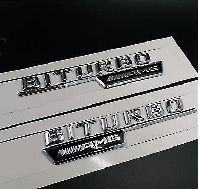 """Flat /"""" GL63 AMG V8 BITURBO /"""" Letters Trunk Embl Badge Sticker for Mercedes Benz"""