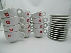 Details about ILLY CAPPUCCINO CUPS LOGO (12 CUPS) & (12 SAUCERS) Porcelain 6 oz capacity