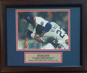 Nolan-Ryan-Signed-Rangers-Framed-8x10-Photo-Fight-Punch-Robin-Ventura-AI-COA