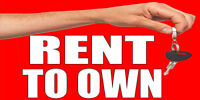 Rent To Own With Key Decal Sticker Retail Store Sign