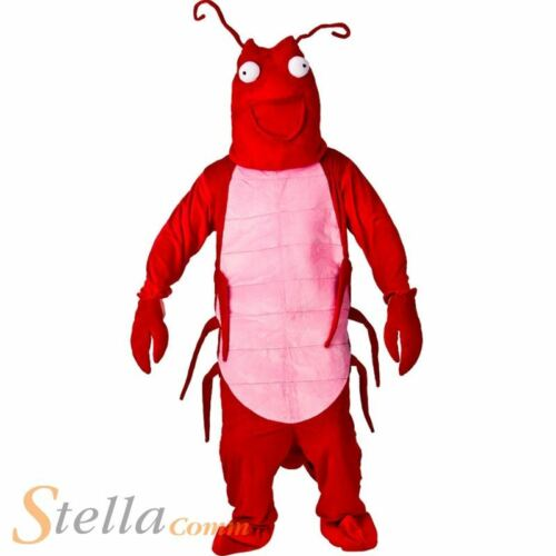 Adult Red Lobster Mascot Costume Funny Sports Fancy Dress Outfit