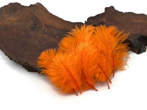 Wholesale Orange Ostrich Small Mini Confetti Feathers Bulk Doll Mardi Gras Craft