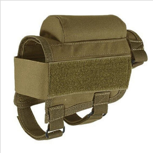 Tactical Buttstock Cheek Rest Rifle Holder Pouch with Ammo Carrier Case Holder