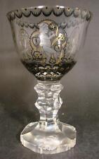 Schwarzlot Glas Pokal Haida / Steinschönau. Joh. Oertel & Co. Haida, um 1915.