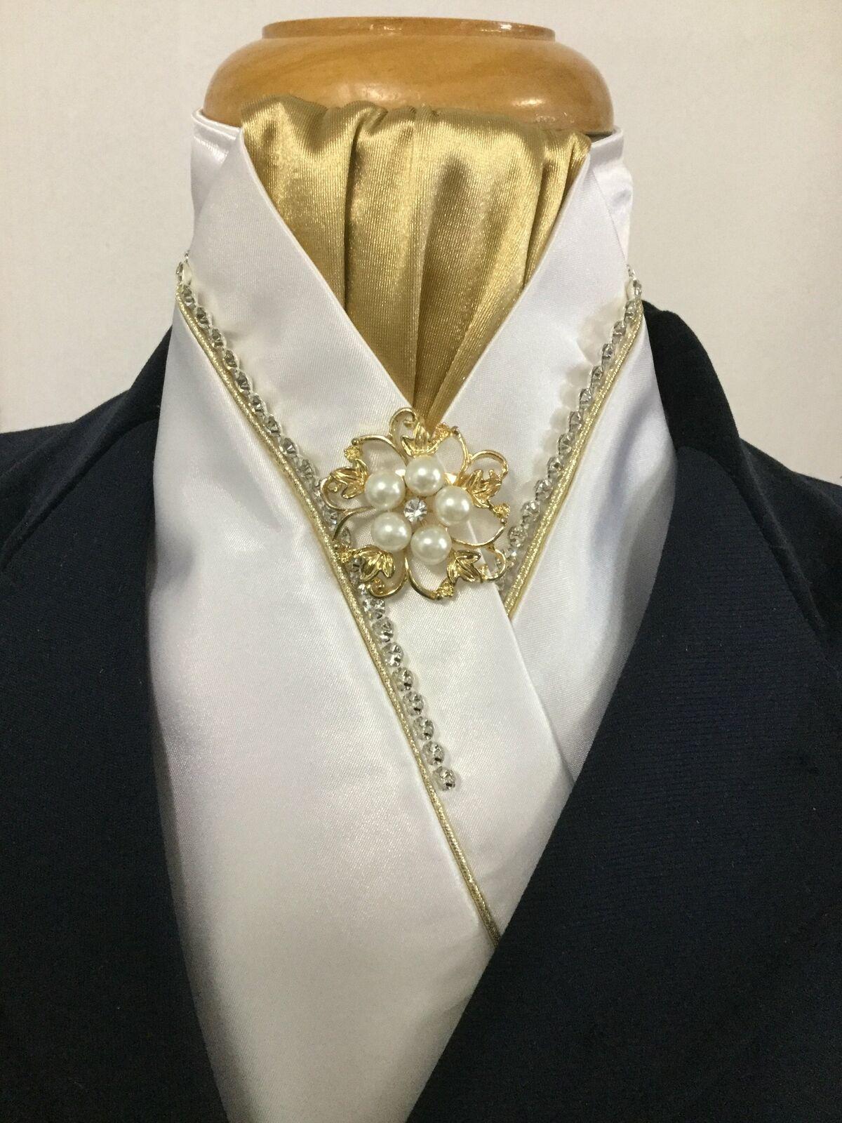 Enfermedad Cochedíaca hipertensiva blancoo y dorado de  diamante de imitación Corbata de Lazo Corbata De Stock  precios mas baratos