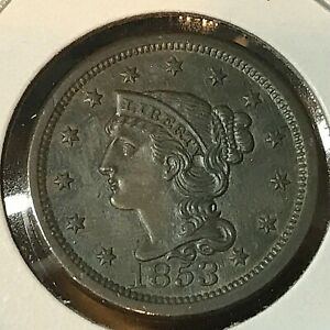1853-BRAIDED-HAIR-LARGE-CENT-HIGH-GRADE-BEAUTY