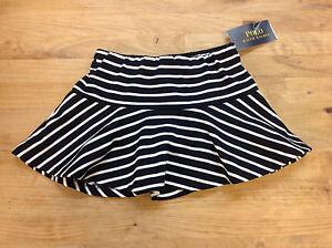 Size 2/2t Brilliant Ralph Lauren Baby Girls' Striped Skirt Navy White