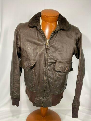 * USN * US Navy Flight / Bomber Leather Jacket Med