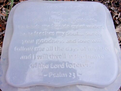 The Lord Is My Shepherd poly plastic stepping stone mold plaster concrete mould