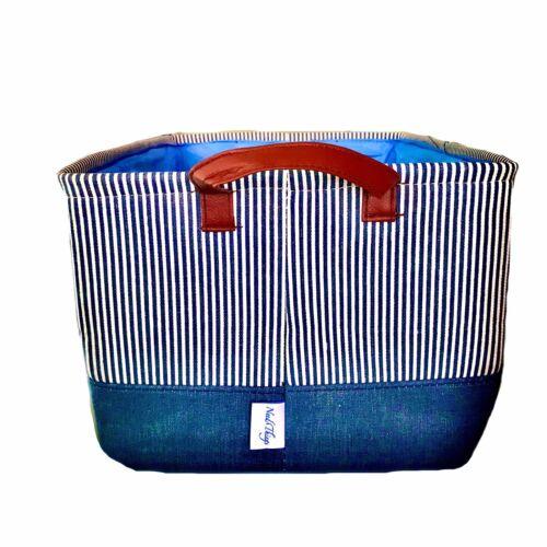 "Decorative Basket Fabric Storage Bin Organizer With Handles 18""x 14""x13"""