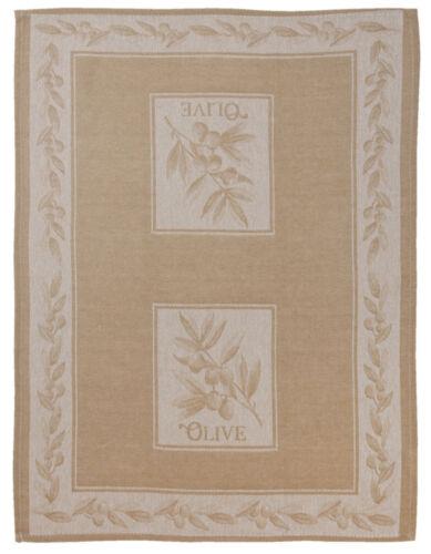 50 x 70 cm Clayre /& Eef Geschirrtuch aus Baumwolle Oliven