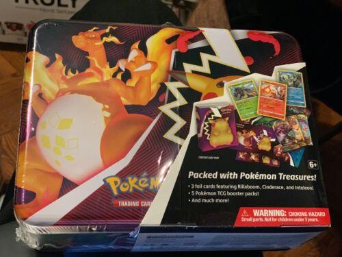 Pokemon TCG Charizard Pikachu Vivid Voltage Collector Chest Tin Box IN HAND NEW