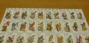 #1953 -2002 50 STATE BIRDS & FLOWERS Full mint sheet of 50 Freaks GUTTER SNIPE