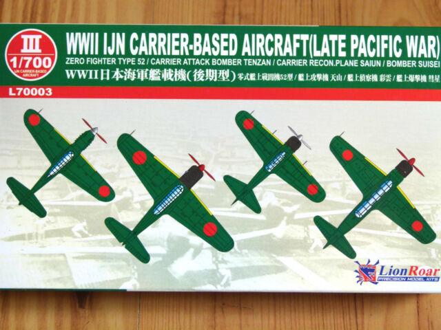 GWH Lionroar 1:700 IJN Carrier Based Aircraft Set (Late Pacific War) Model Kit