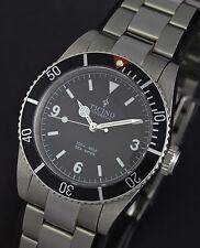 TICINO Sea-Viper Vintage Pro Diver submariner Watch (white lume)
