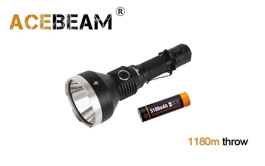 New AceBeam T27 Cree XHP35 HI 2500Lumens 6000K LED Tactical Flashlight  21700