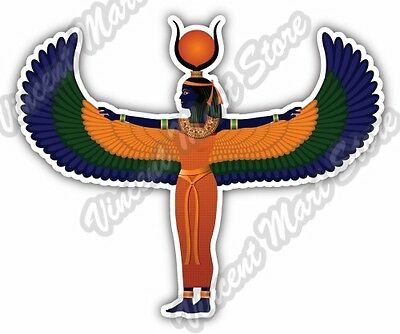 "Isis God Outstretched Wings Ancient Egypt Car Bumper Vinyl Sticker Decal 5""X4"""