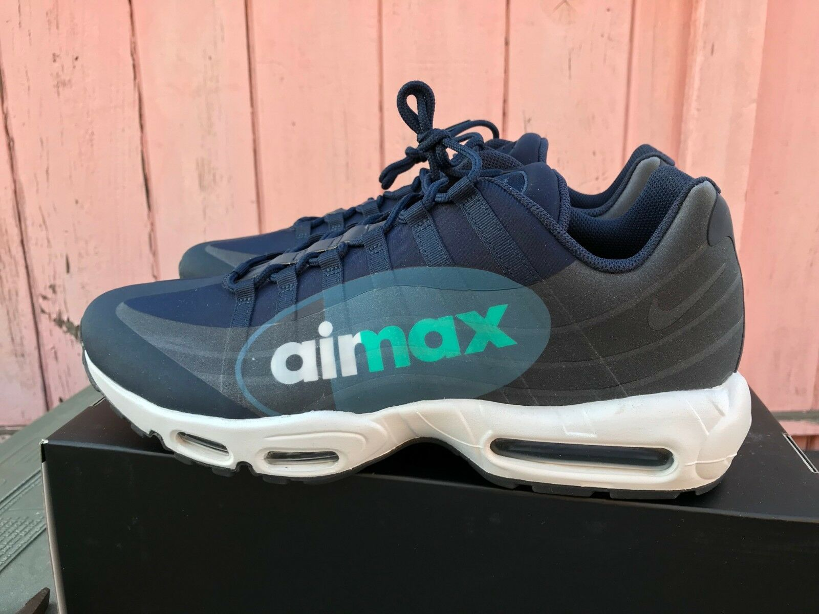 NEW Nike Air Max 95 NS GPX SP shoes Obsidian Sneakers AJ7183 400 Size 14 Running