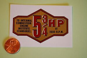 Briggs-amp-Stratton-5-3-4-HP-banner-decal-late-50-039-s