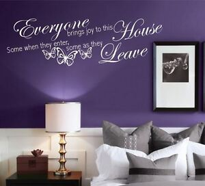House brings Joy and Love Wall Art Quotes Stickers Murals Decals