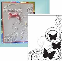 Darice Embossing Folders BUTTERFLY SWIRL 1216-64 Insects Cuttlebug Compatible