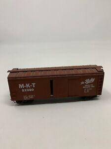 VINTAGE-HO-SCALE-WOOD-Bottom-40-KIT-BUILT-BOX-CAR-MKT-THE-KATY-D2