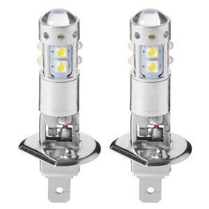 2x Weiß 50W H1 LED DRL Nebellichtbirne Fahrzeugscheinwerfer High Abblendlicht