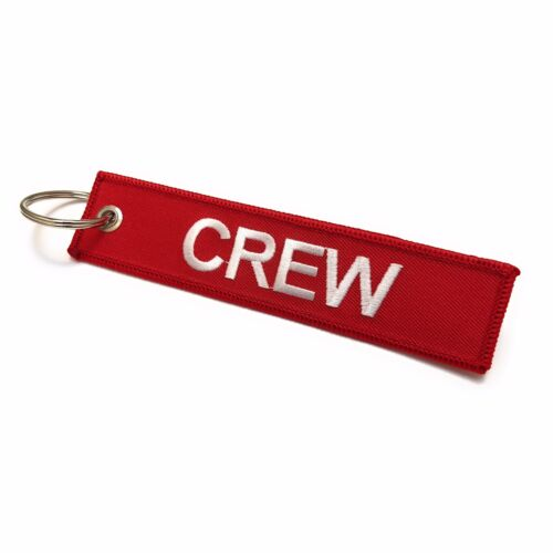 Crew Tag x 1 Crew Do Not Remove From AircraftLuggage TagPilot Keychain