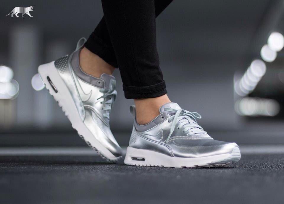 NIKE AIR MAX THEA METALLIC (819640 001) Women's Shoes Size 8.5US
