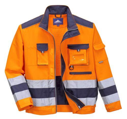 Portwest Lille Hi Vis Jacket Work Wear Bomber ID Pocket D Ring TX50
