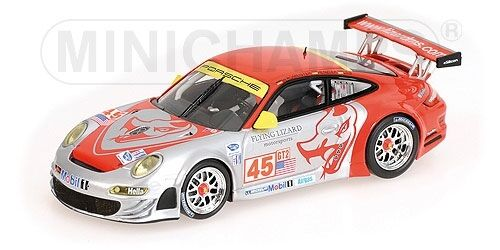Porsche 911 gt3 rsr 12h sebring 2008 bergmeister henzler 1 43 modell minichamps