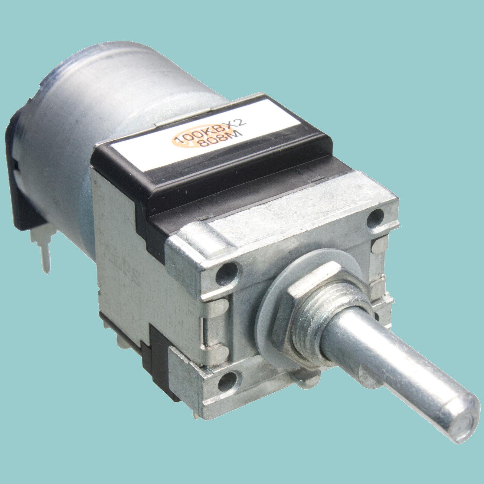 Lautstärke Potentiometer RK16 6mm ALPS RK16812MG stereo Motorpoti Poti 10K log