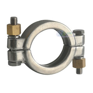 """2/"""" 2inch Sanitary Pressure Tri Clamp Clover Fits 64MM OD Ferrule Stainless SS316"""