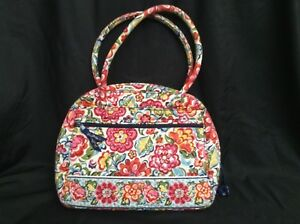VERA-BRADLEY-Purse-TOTEBAG-Cosmetic-Bag-COTTON-QUILTED-RED-FLORAL-Ltd-Ed-NWOT