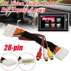 1PCS 28Pin AV Video Audio Cable For Toyota Lexus Tacoma Tundra Touch 2 Entune