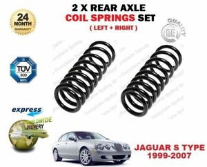 FOR JAGUAR S TYPE 2.5 2.7 TD 3.0 V6 1999-2007 NEW 2X REAR AXLE COIL SPRINGS SET