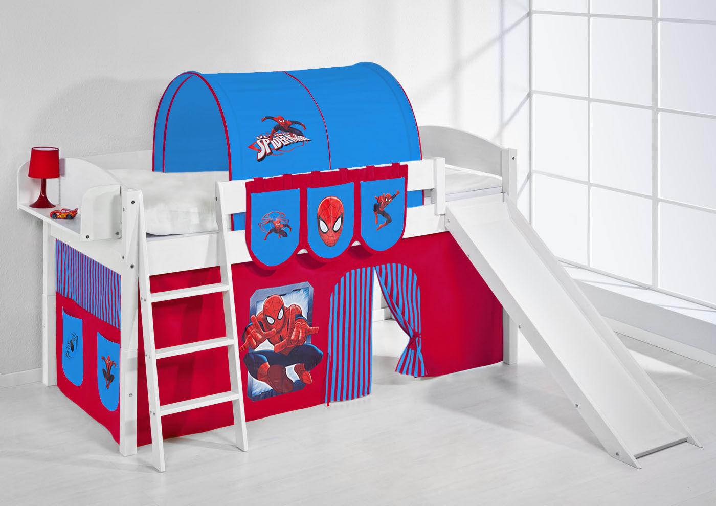 Spielbett surelevé superposé avec toboggan NEUF 4105 LILOKIDS spiderman
