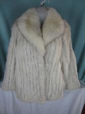 Saga Fox Fur Short  Coat Long Jacket Size Small Norway Fur Made in Korea EPOC