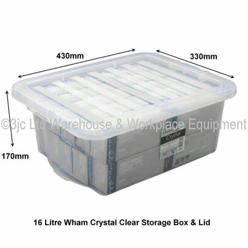 Très Robuste British Made Clear Boîte de rangement en plastique boîtes avec couvercles 10 Tailles