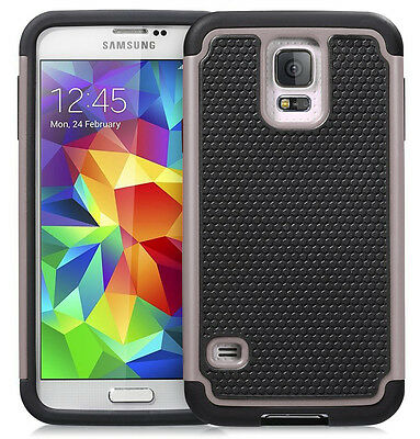DUAL LAYER SHOCK PROOF ARMOUR HARD SILICONE CASE FOR SAMSUNG GALAXY S5 6 NOTE345